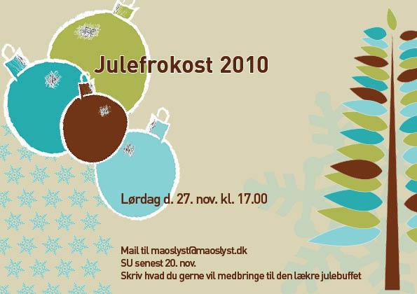 Julefrokost invitation tekst
